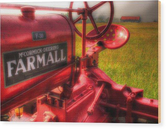 Farmall Morning Wood Print