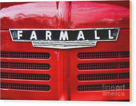 Farmall Wood Print