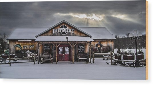 Farmers Inn Outpost Wood Print