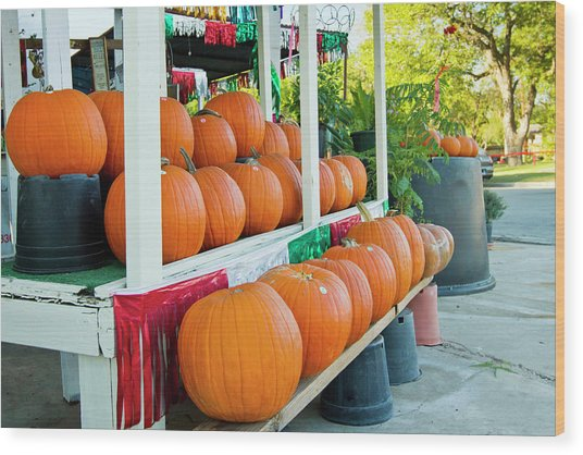Farmer's Market, Autumn In Luling, Texas Wood Print