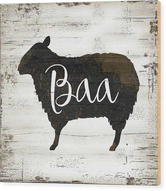 Farmhouse Sheep Wood Print