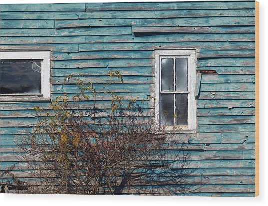 Farmhouse Windows Wood Print