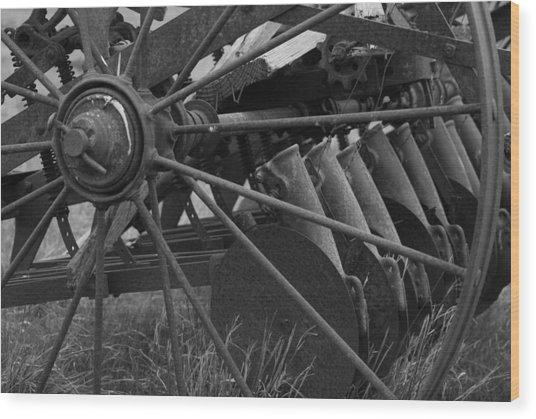 Farming Harrow Wood Print by Upekhya Palihapitiya