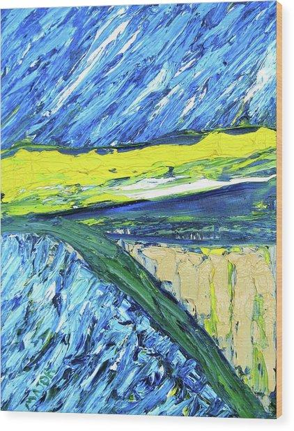 Farmland At Road One Thirteen Wood Print
