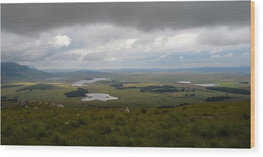 Farms - Drakensberg Range - South Africa Wood Print