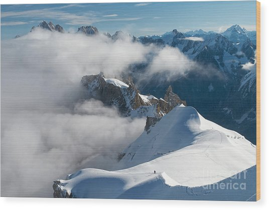 Fascinating Alpine World Chamonix Wood Print
