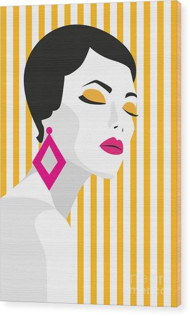 Fashion Girl. Bold, Minimal Style. Pop Wood Print