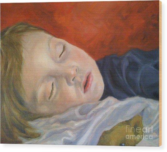 Fast Asleep Wood Print by Hope Lane