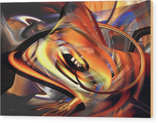 Fast Fire - Abstract Wood Print