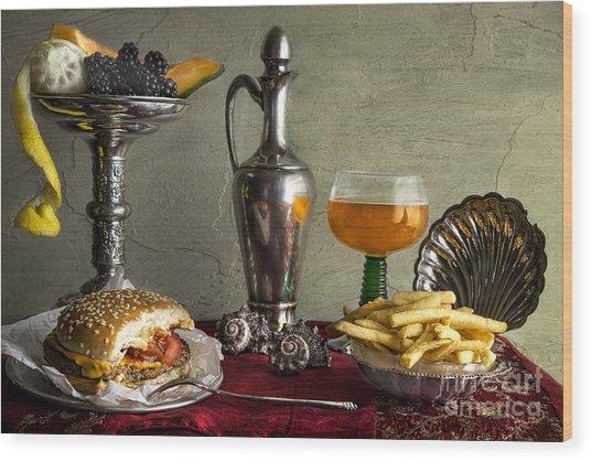 Fast Food Wood Print