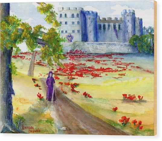 Fastasy Castle Landscape  Wood Print
