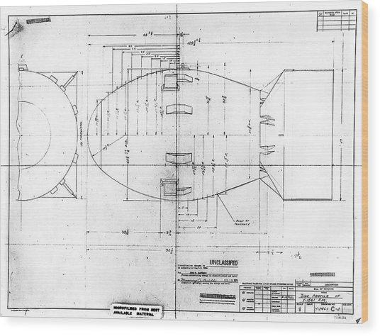 Fat Man Atomic Bomb Blueprint Photograph By Los Alamos National