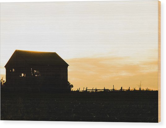 Father's Field Wood Print by BandC  Photography
