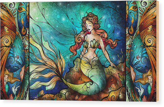 Fathoms Below Triptych Wood Print
