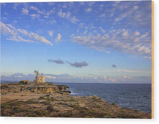 Favignana - Lighthouse Wood Print