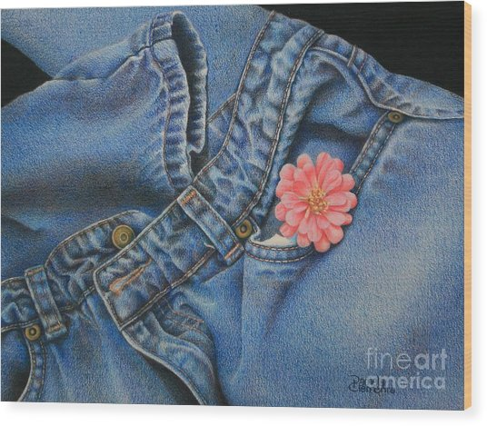 Favorite Jeans Wood Print