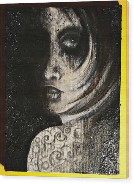 Favourite Black Wood Print