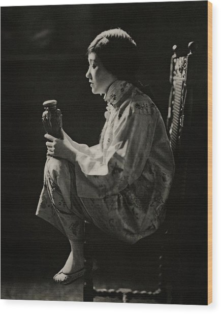 Fay Bainter On Stage Wood Print