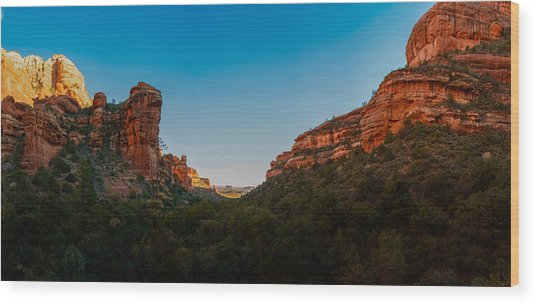 Fay Canyon Outlook Wood Print