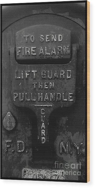 Fdny - Alarm Wood Print