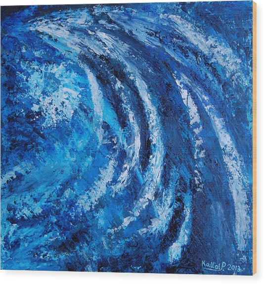 Fear Of Hurricane Wood Print by Peter Kallai