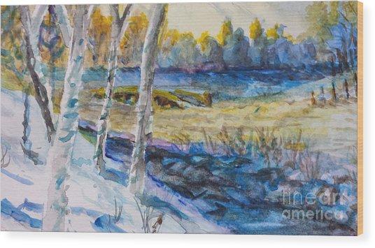 February Morn Wood Print