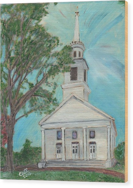 Federated Church Wood Print
