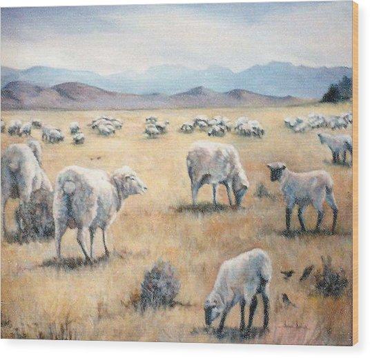 Feed My Sheep Wood Print