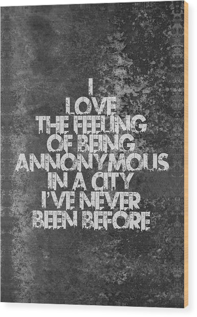 Feeling Quotes Poster Wood Print