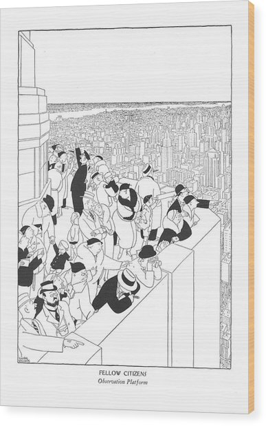 Fellow Citizens Observation Platform Wood Print