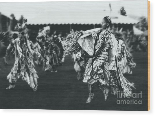 Female Fancy Dancer Wood Print by Scarlett Images Photography