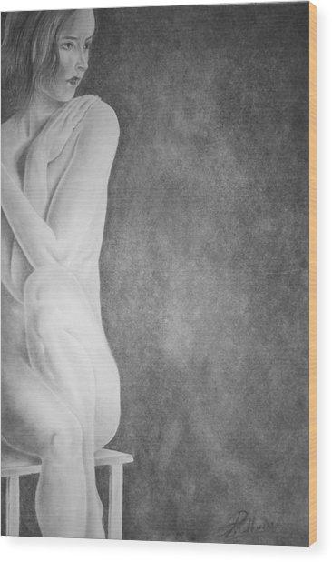 Feminine Iv Wood Print by Suvam Majumder