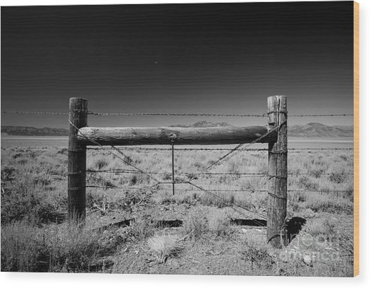 Fence Posts Wood Print by Rick Rhay