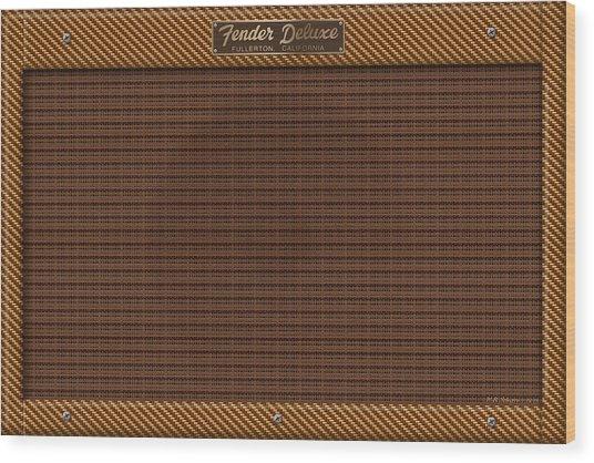 Fender Deluxe Wood Print