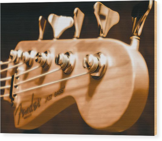 Fender Jazz Wood Print