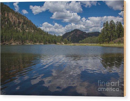 Fenton Lake Reflections Wood Print by Jim McCain
