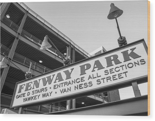 Fenway Park Sign Wood Print