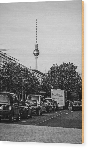 Fernsehturm-tower Wood Print by Chris Smith