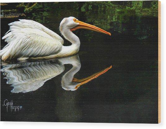 Feron's Heron Wood Print