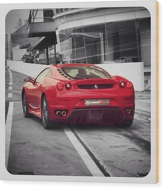 Ferrari - Colorsplash Wood Print
