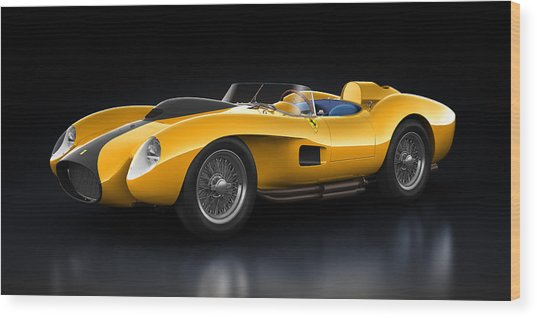 Ferrari 250 Testa Rossa - Bloom Wood Print