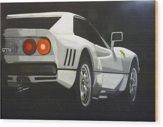 Ferrari 288 Gto Wood Print