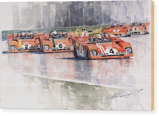 Ferrari 312 Pb Daytona 6 Hours 1972 Wood Print