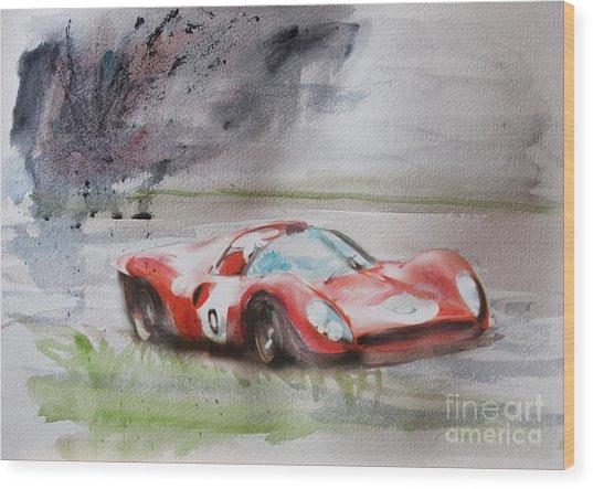 Ferrari 330p4 Spyder  Wood Print