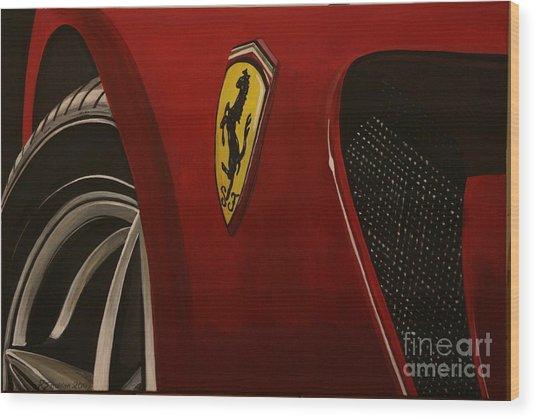 Ferrari 599 Gtb Fiorano Wood Print by Richard John Holden RA