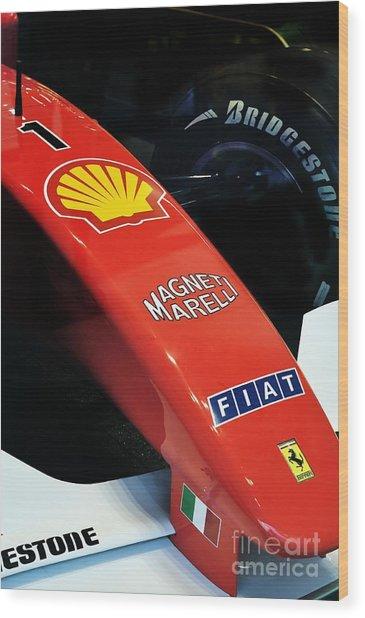 Ferrari  Wood Print by Andres LaBrada