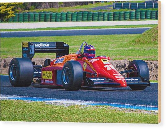 Ferrari At Phillip Island Wood Print