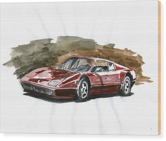 Ferrari Bb 512 Wood Print by Ildus Galimzyanov