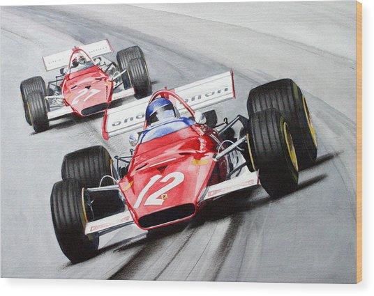 Ferrari  F1 1970 Wood Print
