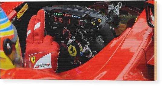 Ferrari Formula 1 Cockpit Wood Print